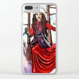 Winter Warrior by DeeDee Draz Clear iPhone Case