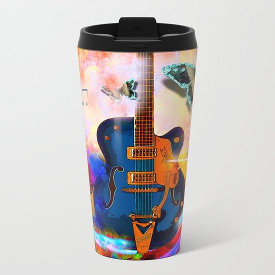 GUITAR Metal Travel Mug