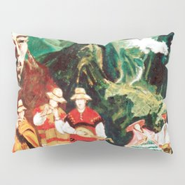 Machu Picchu  Folk                          by Kay Lipton Pillow Sham