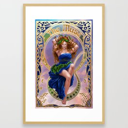 The Muse Framed Art Print