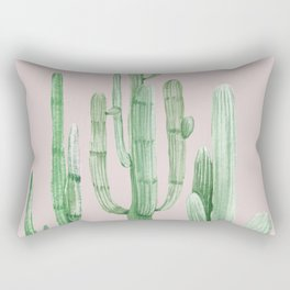 Three Amigos Green + Pink Rectangular Pillow