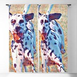 Aquarell running Dog Blackout Curtain