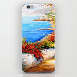 Bright day by the sea iPhone Skin