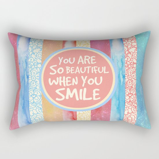 When You Smile Rectangular Pillow