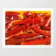 Chili peppers Art Print