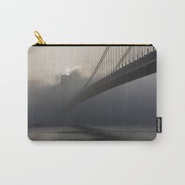 Bridge hidden in the fog at sunrise Carry-All Pouch