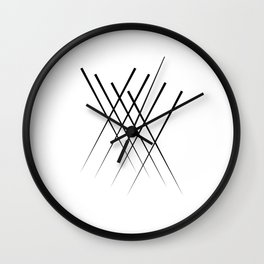 """ Eclipse Collection"" - Minimal Letter X Print Wall Clock"