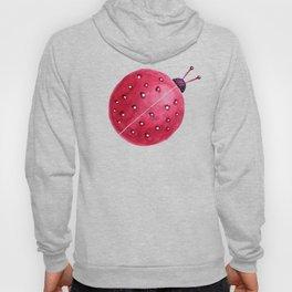 Spherical Abstract Watercolor Ladybug Hoody