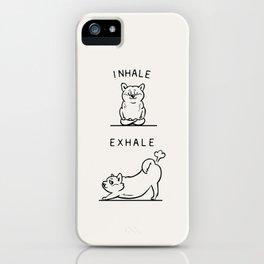 Inhale Exhale Shiba Inu iPhone Case