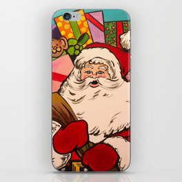 SANTA CLAUS WITH BOXES OF PRESENTS iPhone Skin