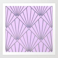 Art Deco Clams #2 Art Print