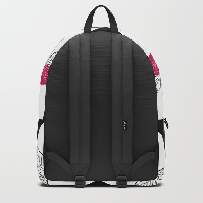 Abstraction.Berry-raspberry. Backpack