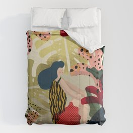 Relaxed in Jungle - The Book Lover Comforters