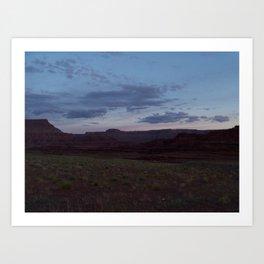 Sunset on Moab Trail Art Print