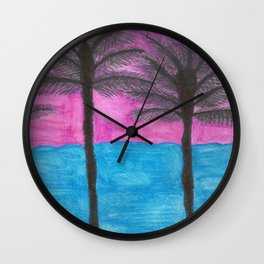 Tropical Getaway Wall Clock