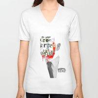 motivation V-neck T-shirts featuring Mankind Motivation 6 by Marko Köppe