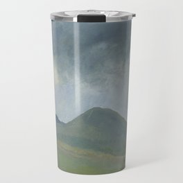 Storm clouds over the hill Travel Mug
