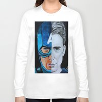 steve rogers Long Sleeve T-shirts featuring Steve Rogers by Goolpia