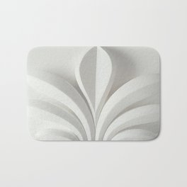 White sculpture Bath Mat