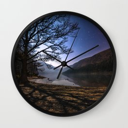 Night sky in Glendalough, Wicklow Mountains - Ireland Print (RR 266) Wall Clock