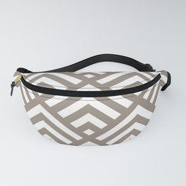Brown triangle lines pattern Fanny Pack