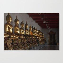 Buddha in a Row Canvas Print