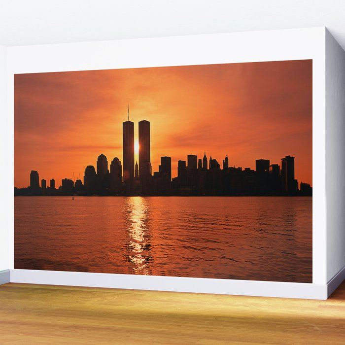 Twin Towers Summer Sky Wall Mural