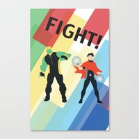 fight Canvas Prints featuring FIGHT! by Lena Lang