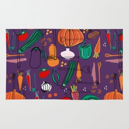 fall veggies purple Rug