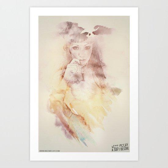 A Soft Desire Art Print