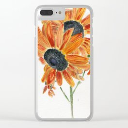 Solar Flares Clear iPhone Case