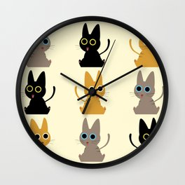 Army of Kittens Wall Clock
