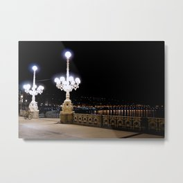 San Sebastian, Spain - Night Rider Metal Print