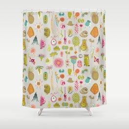 Colorful protozoa Shower Curtain