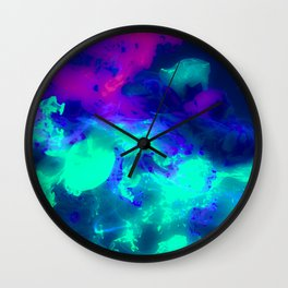 Glowing Grapes - Fruity Ink Fluid Wall Clock