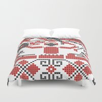 edm Duvet Covers featuring Ethno DJ by Sitchko Igor