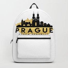 PRAGUE CZECH REPUBLIC SILHOUETTE SKYLINE MAP ART Backpack