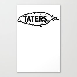 'Taters (White) Canvas Print