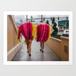Vegas Legs Art Print