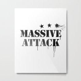 Rock band logo art / MA Metal Print