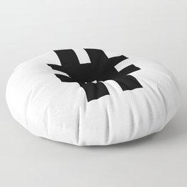 Hash Sign (Black & White) Floor Pillow