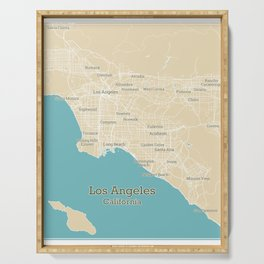 Los Angeles Stylish Functional City Map Serving Tray