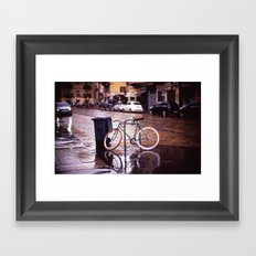 Rainy Milan Framed Art Print
