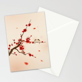 Oriental plum blossom in spring 007 Stationery Cards