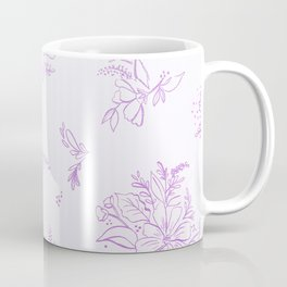 beautiful,violet,floral,shabby chic,pattern,french chic, country chic, vintage, Coffee Mug