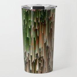 Ever Green Cascade Abstract Travel Mug