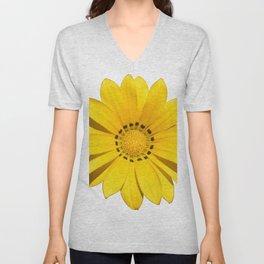 Yellow flower / dots Unisex V-Neck