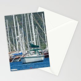 Yachting marina of Marmaris in Turkey resort town on the Aegean Sea Stationery Cards