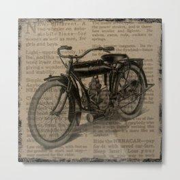 Vintage Indian Motorcycle Metal Print