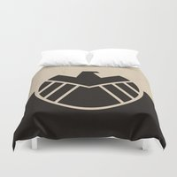 agents of shield Duvet Covers featuring Agents fo Shield by The Retro Inc